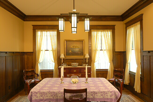 Arts Amp Crafts Dining Room Heussner Residence
