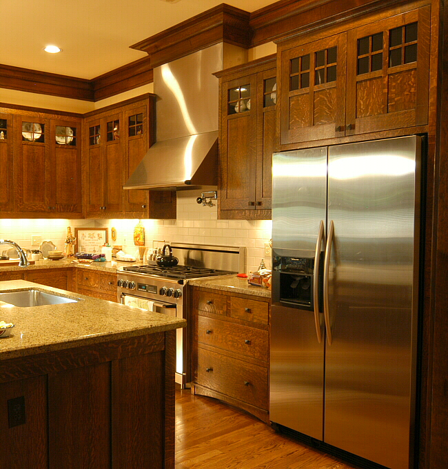 Arts crafts kitchen heussner residence 3 for Arts and crafts kitchen designs